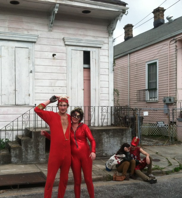 People I don't know, Bywater, Saturday before Mardi Gras