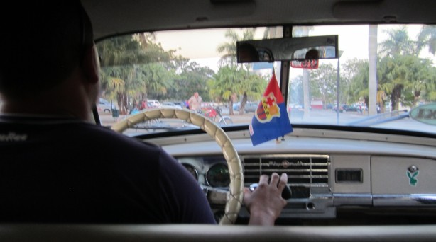 Driving in from the Havana airport
