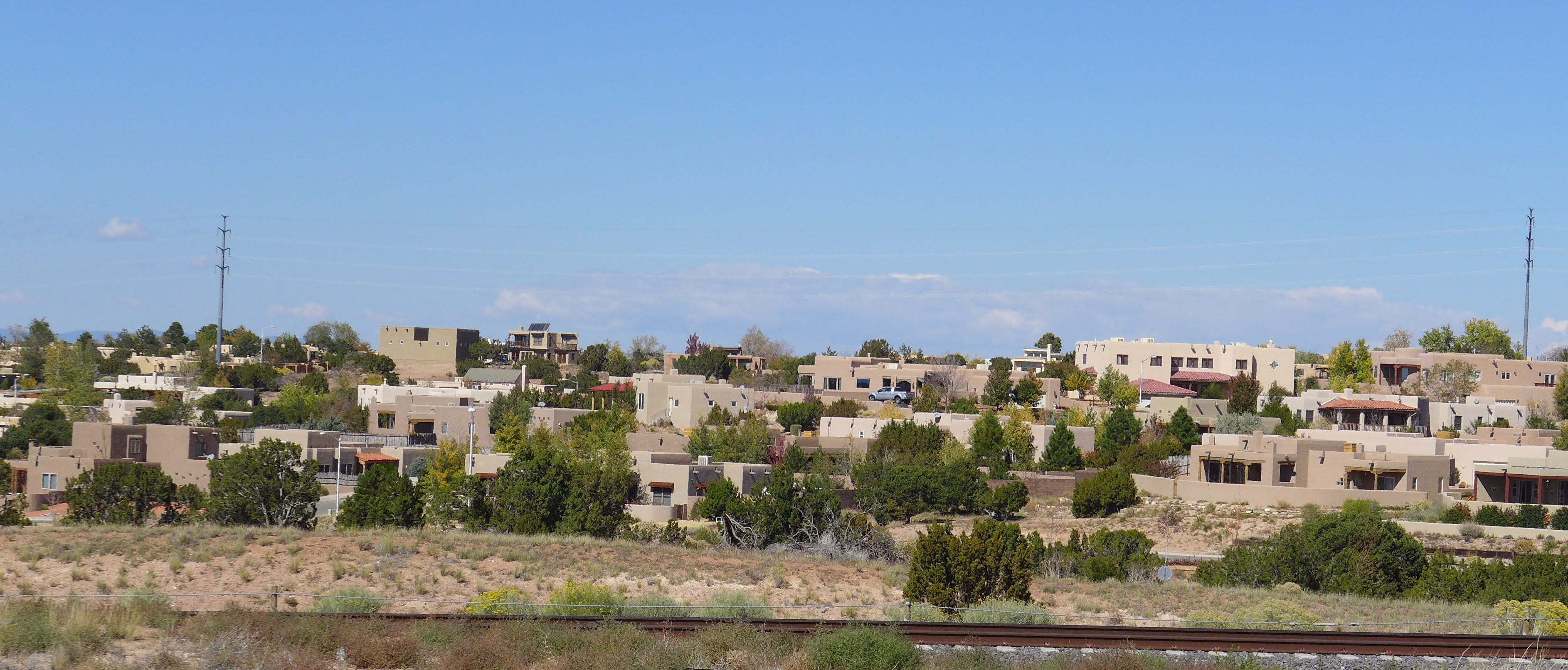 Suburban sprawl on the fringes of Santa Fe