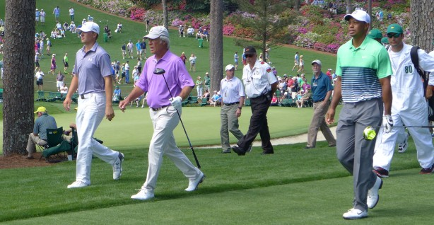 Jordan Speith, Ben Crenshaw, and Tiger Woods