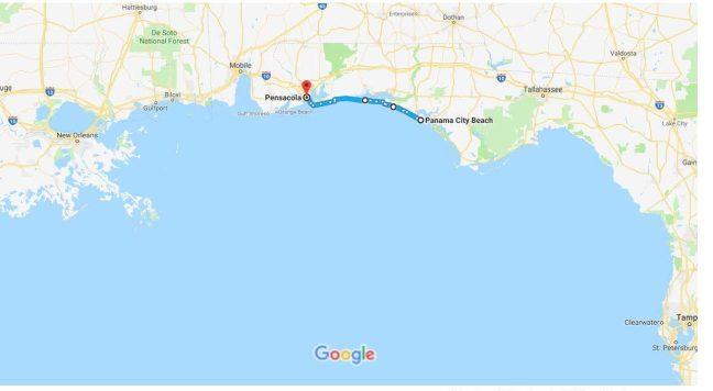 Panama city beach fl to pensacola fl google maps urban bicycle related gumiabroncs Choice Image